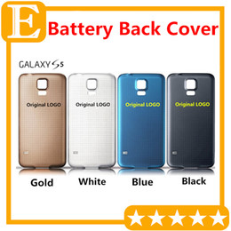 Wholesale Oem Doors - OEM for Samsung Galaxy S5 I9600 G900F G900T G900P G900V M Rear Back Battery Door Cover Housing With Rubber Mat Waterproof Replacement Parts