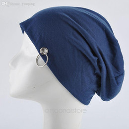 Wholesale Top Hat Rings - Wholesale-New Fashion Men Women Beanie Top Quality Solid Color Hip-hop Slouch Unisex Knitted Cap Winter Hat Beanies with Ring AMHM723-60