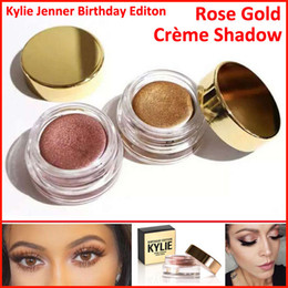 Wholesale Wholesale Cream Eyeshadow - Kylie Jenner birthday Edition eyeshadow cream Cosmetics eye shadow Kyshadow eyebrow naked makeup Long-lasting Copper + Rose gold