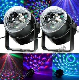 Wholesale Mini Magic Garden - 2017 NEW Mini RGB LED Crystal Magic Ball Stage Effect Lighting Lamp Party Disco Club DJ Bar Light Show 100-240V US Plug MYY