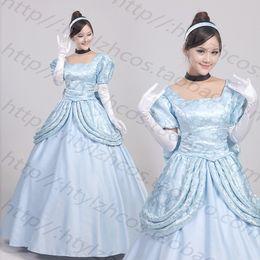 Wholesale Cinderella Costume Xxs - Wholesale-Custom Made Cinderella Dress Adult Cinderella Cosplay Costume Adult Cinderella Costume