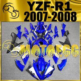 Wholesale Yamaha Race Fairings - Hot Sell Motoegg High Quality Racing Fairings Injection Mold For Yamaha YZF-R1 2007 2008 YZF R1 07 08 Fairing BLUE Y17M32 Five gifts