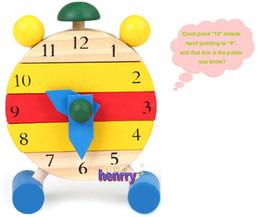 Wholesale Wooden Clock Puzzle - Color removable wooden clock. Can be assembled wooden puzzle educational toys for children