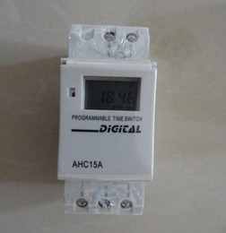 Wholesale Digital Programmable Timer Relay 16a - THC15A AHC15A Digital LCD 16A 24hours Weekly Programmable Timer AC 220V Time Relay Switch