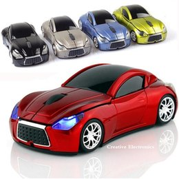 Wholesale Pc Game Cars - Wireless infiniti sports car shaped mouses 2.4Ghz 1600DPI 3D 3 buttons game mice gaming mouse for computer PC laptop desktop fashion cool