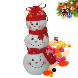 Wholesale Carnival Candy - 10pcs New Gift Bags Merry Christmas decoration Tree Snowman pattern Candy handle Xmas carnival party decor