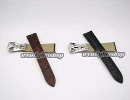 Wholesale 22mm Genuine Crocodile Watch Strap - 20mm   22mm Wholesale New Genuine Cowhide Leather Black or Brown Crocodile Grain Watch Band Strap Deployment Clasp for watch