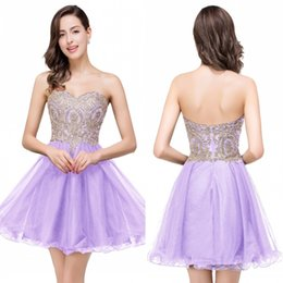 Wholesale Colors Gowns - $39.9 New Cheap 7 Colors Mini Short Homecoming Dresses 2017 Little Black Lace Appliques Tulle Cocktail Burgundy Prom Party Gowns CPS411