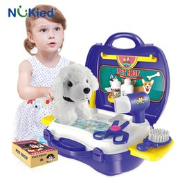 Wholesale Wholesale Toy Stores - NUKied Kids Mini Simulation Pet Store Portale Kits Educational Cosplay Pretend Play Toy For Girls Christmas Present