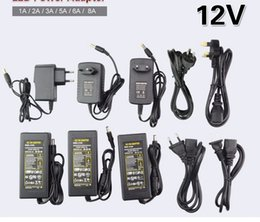 2019 adaptateur secteur 24v 1a Chargeur d'alimentation LED AC110V 220V à DC12V Adaptateur de transformateur 1A 2A 3A 5A 6A 8A Chargeur de puissance de commutation pour éclairage à bande led