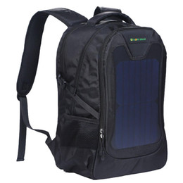 Wholesale Computer Chargers - Original waterproof 5V Solar Battery Charging Business Travel Backpacks Bags Tourism Solar Panel USB Output Charger computer sports bag