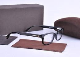 Wholesale Eyeglass Cases Black - New Arrival TF5084 Plank Frame Optical Frames Glasses for Unisex Myopia Eyeglasses Brand Designer Retro Vintage Glasses With Original Case