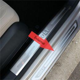Wholesale Car Door Sills - For VW Volkswagen Golf 6 Golf 7 Mk7 Scuff Plate 2011 2012 2013 2014 2015 golf 7 golf6 Door Sills Car Styling Accessories