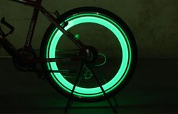 Wholesale bikes cars - New Bike Bicycle LED Wheels Spokes Lamp wheel Lights Motorcycle Electric car Silicone flash alarm light cycle accessories SC040