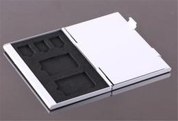 2019 пластиковый футляр для жесткого диска Металлический алюминий #K Micro SD TF MMC карты памяти коробка для хранения Protecter чехол держатель