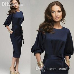 Wholesale Spandex Bodycon Dress Wholesale - Wholesale-New Women Summer Casual Office Lady Party Cocktail Midi Dress Size free ship from china