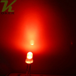 Wholesale Diode 3mm - 1000pcs 3mm Red diffused LED Light Lamp led Diodes 3mm Diffused Red Ultra Bright Round LED Light Free Shipping