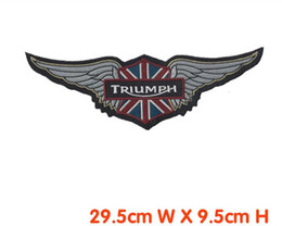 Wholesale Iron Rider - Free shipping embroidery patch 10pcs lot motor rider big patch iron on jacket back dress decration welcome customized patch