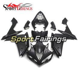 Wholesale R1 Carbon - Full Fairings For Yamaha YZF R1 07 08 YZF-R1 2007 2008 ABS Motorcycle Fairing Kit Bodywork Aftermarket Fake Carbon Fiber Grey Cowlings