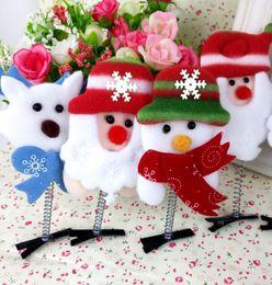 Las nuevas decoraciones de Navidad venden artefacto Meng accesorios para el pelo niños horquilla horquilla tocado al por mayor regalo luminoso vivero desde fabricantes