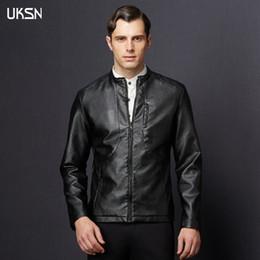 Wholesale Jaqueta Couro Masculino - Fall-2016 Leather Coat Chaqueta Jaqueta Couro Masculino Bomber Men Leather Jackets For Motorcycle Jackets Jaqueta De couro Masculina