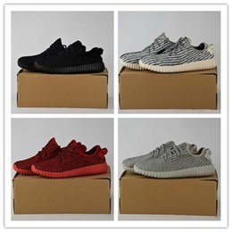 Wholesale Red Womens Oxfords - [With Box]2017 Boost 350 V1 Kanye West Pirate Black Turtle Dove Moonrock Oxford Tan Camo Pink White Mens Womens Senakers Running Shoe