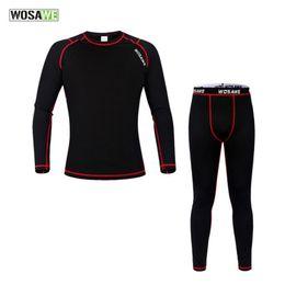 Wholesale Thermal Underwear Bike - New Men Sport Under Wear Thermal Fleece Base Layer Sport Clothing Cycling Bike Long Sleeve Underwear Winter Running Tights H2077