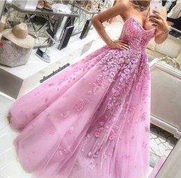 Wholesale fast hot water - 2016 A Line Sweetheart Hot Pink Tulle Chian Fast Shipping Prom Dresses Sexy Lace Applique Party Long Party Dresses