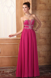 Wholesale Maternity Chiffon Bridesmaid Dresses Burgundy - Beaded Prom Dresses Sheer Sweetheart Exquisite Beading Ruched Floor Length Real Images Zipper Back Bridesmaid Dresses