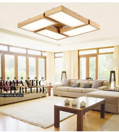 Wholesale Wood Ceiling Lighting Fixtures - Wood led ceiling lights for Living room foyer deckenleuchten modern OAK led ceiling lights lamp fixtures luminaria teto