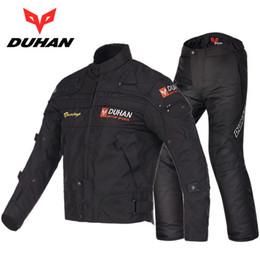 Wholesale Racing Jacket Pants - DUHAN moto racing suit jacket pants male winter seasons motorcycle riding clothes suit motorbike jackets pants warm clothes D-020 and DK-06