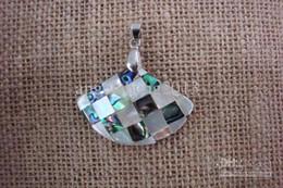 Wholesale Natural Abalone Shell Pendant - Nutural Sector shape pendant Natural abalone shell jewelry pendant suitable For Diy Necklace Pendant 45*30mm 200pcs