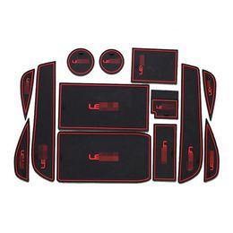 Wholesale Door Mat Rubber - 13pcs Non-Slip Rubber Interior Car Door Armrest Storage Panel Mat Cup Holder Slot Pad Cover Sticker For Lexus ES250 ES300h ES350