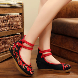 Wholesale Mediums Phoenix - Chinese Traditional Beijing Shoes Retro Phoenix Pattern Womens Fashion Casual Soft shoes 217 Fashion New