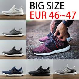 Wholesale Red Hot Hard - Hot Big Size Ultra boost 3.0 Triple Black Man Running Shoes Oreo Triple white ultraboost Primeknit Mens Women Sport Sneakers US 5-12