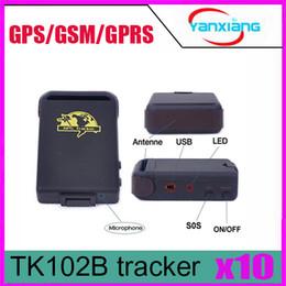 Wholesale Global Hands - 10pcs 25% off 5pcs TK102B GPRS GPS Tracker TK102 B Full Accessories Mini Car Vehicle Tracker Mini Global 4 bands ZY-DH-05