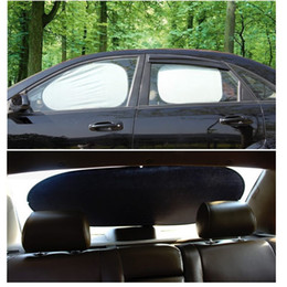 Wholesale Car Side Window Sun Shades - 6pcs Windshield Sunshades Sun Protector Car Hippo Window Shades Included with 1pcs front shade & 1pcs rear window shades &4pcs side shades