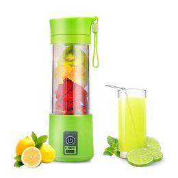 Wholesale vegetable juice blender - 380ML Portable USB Juicer Cup Rechargeable Battery Juice Blender Extractor Fruit Vegetable Tools Kitchen Accessories