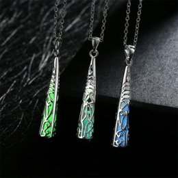 Wholesale fluorescent chain necklace - 10PCS  Lot Free shipping Wholesale 925 Sterling Silver Plated Fashion women fluorescent Pendants Necklace GN042