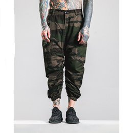 Wholesale Sport Camo Cargo Pants - Camouflage Pants Men Elastic Calf-Length Jogger Pants 2016 Fashion Casual Tide Brand Joggers Camo Sweatpants Outdoors Sporting