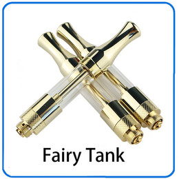 Wholesale Gold Fairies - 2017 Newest C BD tank glass Gold ceramic coil wickless oil cartridge 510 cartridge glass VS newest glass 510 cartridge fairy tank