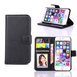 Wholesale Plastic Flip Case Iphone 4s - Flip Photo Frame Wallet PU Leather Case Cover With Card Slots Stand Holder Cases For iPhone 4s 5s se 6 6s plus 7 8 plus samsung s7 s7 edge s