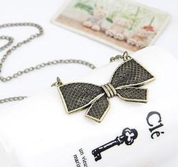 Wholesale Resins For Bows - Necklaces Pendant for Women Fashion Vintage Punk Metal Bow Pendant Necklace Flower Long Chain Statement Necklaces
