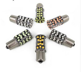 Wholesale P21w Led Error Free - 50PCS 1156 1157 60SMD Canbus LED P21W 7506 Error Free High Power Reverse Backup light Lamp Bulb