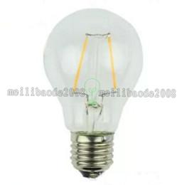 Wholesale E27 Type Led Bulbs - NEW Edison type A19 LED Filament Bulb 2W 4W 6W 8W Warm Whie cool white E26 E27 B22base High transparent glass LED sport Light MYY
