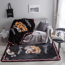 Wholesale Print Blankets - Goddess's Blanket Fashion Coral Fleece Carpets For Living Room Tiger Printing Sleeping Blankets For Baby With Box Package 150*200CM