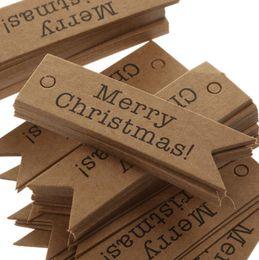 regali all'ingrosso accessori per la casa Sconti Commercio all'ingrosso 500pcs decorativo buon Natale Tag di carta regalo etichette appeso a casa fai da te decorazioni per feste a casa accessori di Natale