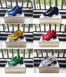 Wholesale Hard Gift Boxes - [with box] 2016 Top Gift Shoes Sneakers NMD HumanRace Hot Running Shoes Couple Race shoes Human RaceEUR36-44