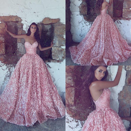Wholesale Unique Red Ball Dresses - Luxury Ball Gown Prom Dresses Unique Full Lace Backless Celebrity Dresses For Red Carpet Custom Made Vintage Prom Gowns 2017