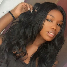Wholesale Malaysian Virgin Hair Wavy Wigs - Lace Front Human Hair Wig Wavy Loose Wave 360 Lace Wig Malaysian Virgin Hair Pre-plucked Hairline Full Lace Wig 150% Density Bleached Knots